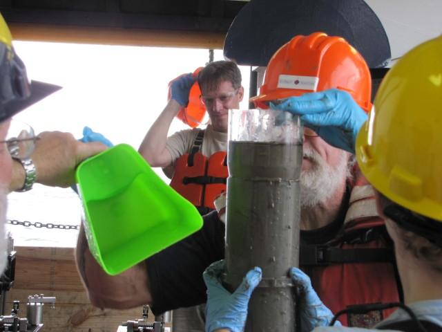 Processing a sediment sample